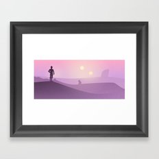 Planetscape #1: Twin Suns Framed Art Print