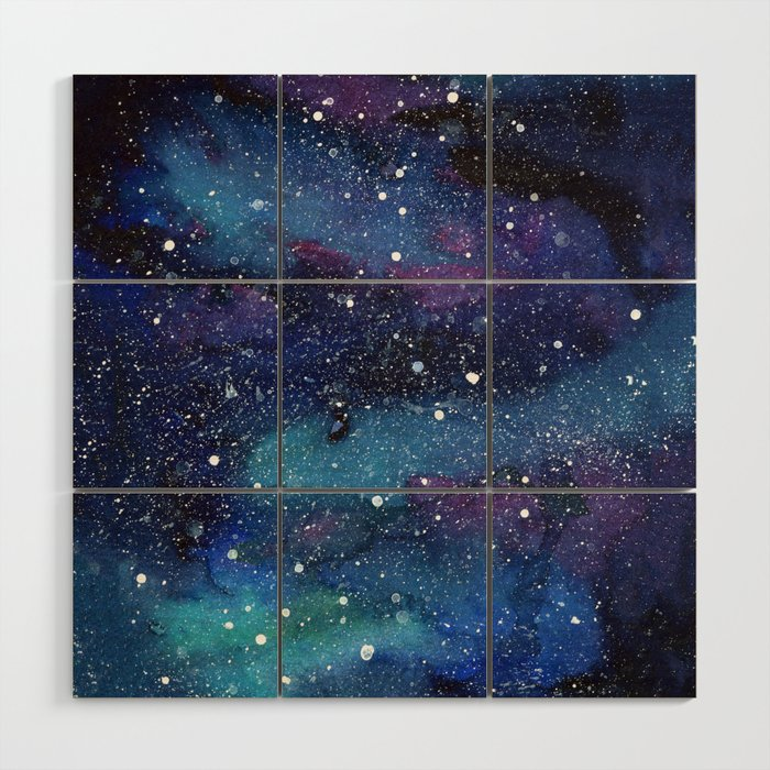 Galaxy Space Painting Stars Cosmic Universe Nebula Art Wood Wall Art By Olechka