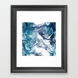 Real Marble Glitch Pattern Framed Art Print