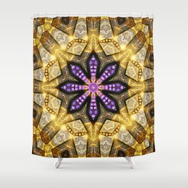 Purple Star Rustica Shower Curtain