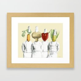 You are what you eat... Framed Art Print