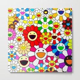 Takashi Murakami - Blooming Flowers Metal Print