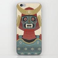 samurai iPhone & iPod Skins featuring Samurai by James White