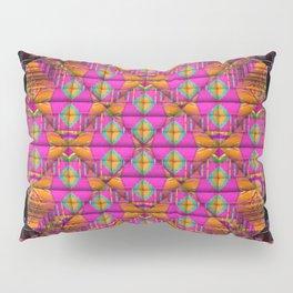 Orange & Pink Boxed Pillow Sham