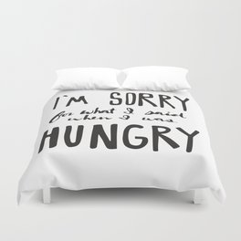 Hungry Duvet Cover