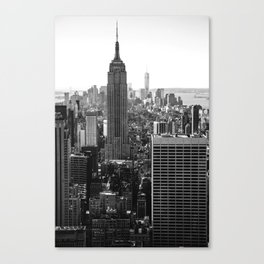 Empire State II (From the Top of the Rock) - b&w Canvas Print