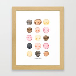 All Boobs Are Beautiful - Celebrate Diversity Framed Art Print