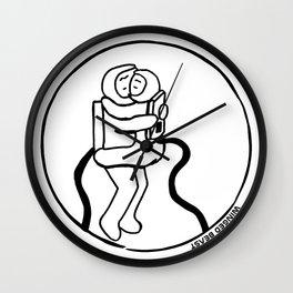 Astronauts Hugging Wall Clock