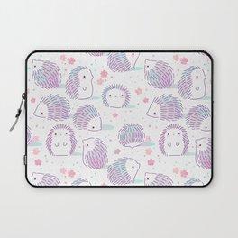 Spring Hedgehog Pattern Laptop Sleeve