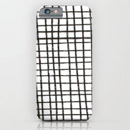 Grid lines iPhone Case