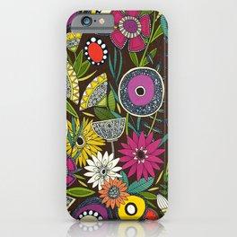 joie floral espresso iPhone Case