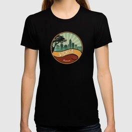 Wichita City Skyline Kansas Retro Vintage Design T-shirt