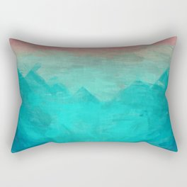 Sunset Over Lagoon Abstract Painting Rectangular Pillow
