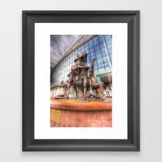 Rugby League Legends statue Wembley stadium Framed Art Print