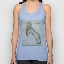 Vintage Map of The San Diego Bay (1857) Unisex Tank Top