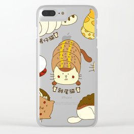Cat buns Clear iPhone Case