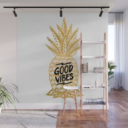 Good Vibes Ananas Wall Mural