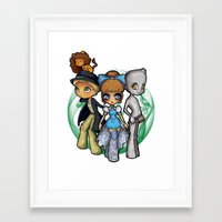 oz Framed Art Prints featuring Oz  by Mickey Spectrum
