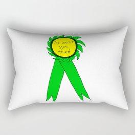 At Least You Tried Award Ribbon Rectangular Pillow