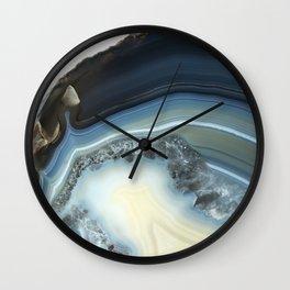 Blue Agate Geode Wall Clock