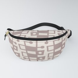 Mid Century Modern Abstract 213 Beige Fanny Pack