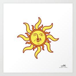 Sun Face Art Print