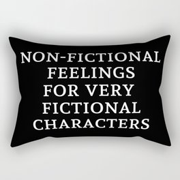 Non-Fictional Feelings for Very Fictional Characters - Inverted Rectangular Pillow