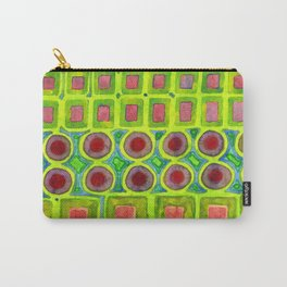 Connected filled Squares Fields Carry-All Pouch