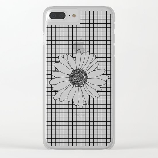 Daisy Grid Clear iPhone Case