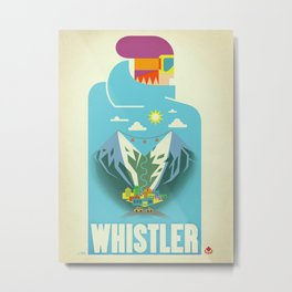 "Vintage Whistler ""Blue Bird"" Travel Poster Metal Print"