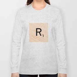 Scrabble Letter R - Large Scrabble Tiles Long Sleeve T-shirt