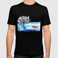 The Lotus and the Goldfish Mens Fitted Tee MEDIUM Black
