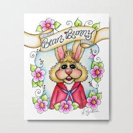 Bean Bunny Metal Print