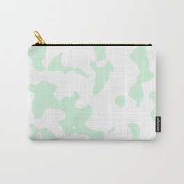 Large Spots - White and Pastel Green Carry-All Pouch