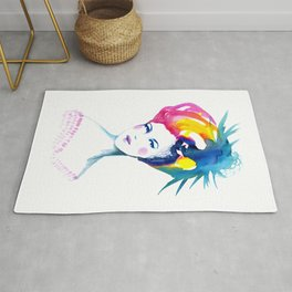 Annabelle, watercolor painting Rug