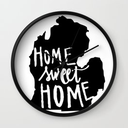The Mitten - Home Sweet Home! Wall Clock