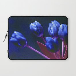 DARK BLUE TULIPS Laptop Sleeve