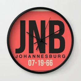 JNB Johannesburg Luggage Tag 2 Wall Clock