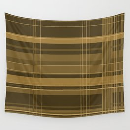 Brown Plaid Wall Tapestry