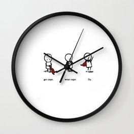 Fly Cape Wall Clock