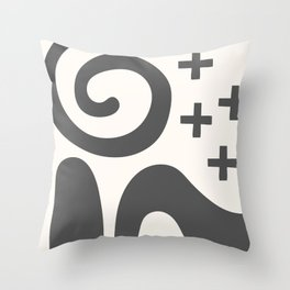 Contemporary Modern Abstract Art Throw Pillow