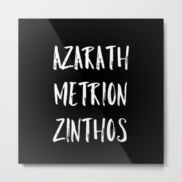 Azarath Metrion Zinthos Metal Print
