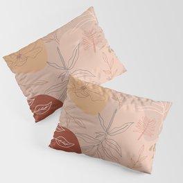 Pink Abstract Desert Pattern Pillow Sham