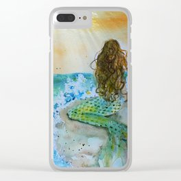 Final Joy Mermaid Clear iPhone Case