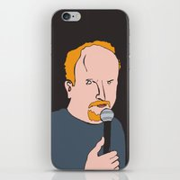 louis ck iPhone & iPod Skins featuring Louis CK by Mike Schofield