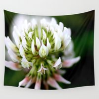 clover Wall Tapestries featuring Clover by Organic Photography