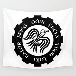 Raven Banner Wall Tapestry
