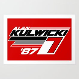 Alan Kulwicki NASCAR 1987 Art Print