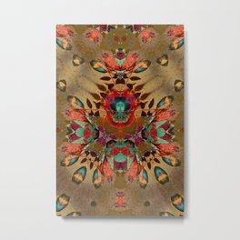 Mariposa Azufre Metal Print