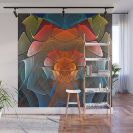 Colourful unfolding fantasy abstract Wall Mural